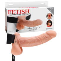 Hollow Strap-on with Balls - 7 inch