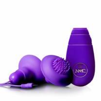 Double Vibratory Nipples - 1 Pair (Purple)