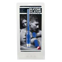 DILATOR - hollow silicone urethra vibrator - blue (7mm)