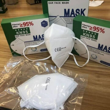 KN95 (FFP2) - Ochranné rúško - biele (1ks)