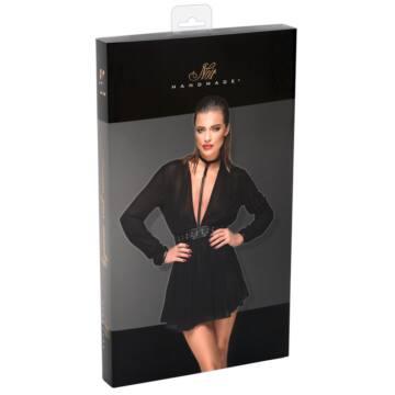 Noir - neckline, lenge tunic dress (black)