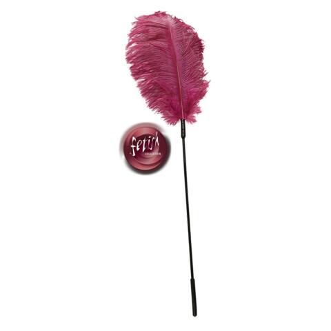 Fetish Collection - hladkadlo zo pštrosieho peria ružové