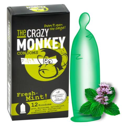 Crazy Monkey Fresh Mint - mentolové kondómy (12ks)