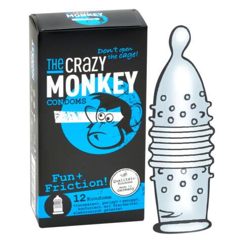 Crazy Monkey Fun Friction - vrúbkované kondómy (12ks)