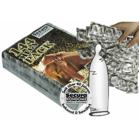 Secura kondómy - priesvitné (144 ks)
