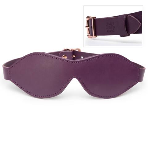 Fifty Shades Freed Leather Blindfold - kožená maska na oči