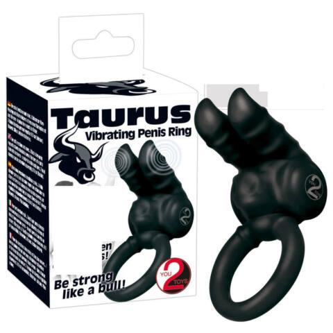 You2Toys Taurus - vibračný krúžok na penis čierny