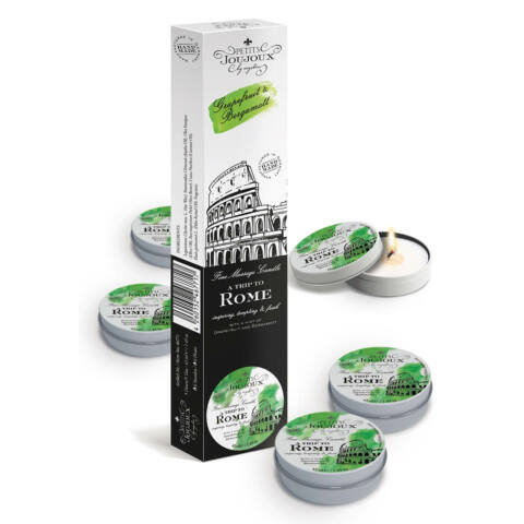 """Massage Candle """"Rome"""", Pack of 5"""
