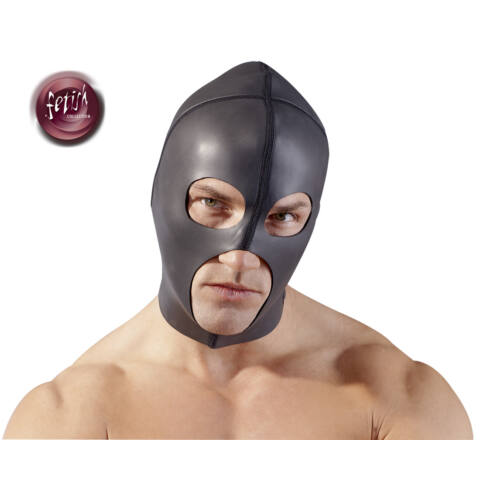 Fetish - neoprénová maska (čierna)