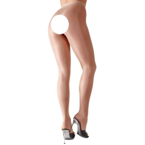 Cottelli Collection - hodvábne lesklé erotické pančuchy