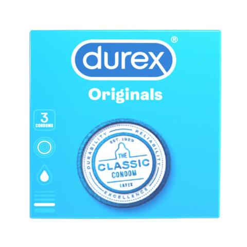 Durex klasické kondómy (3 ks)