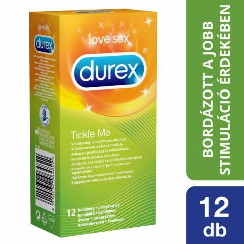 Durex Tickle Me - kondóm s rebrovitým povrchom (12 ks)