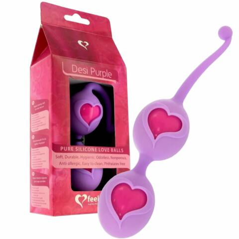 FEELZTOYS - DESI LOVE BALLS PURPLE-PINK