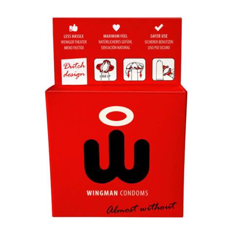 Wingman - kondómy, ktoré nasadíte jednou rukou (3ks)