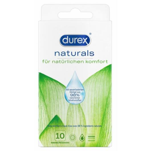 Durex Naturals - thin condom with water-based lubricant (10pcs)