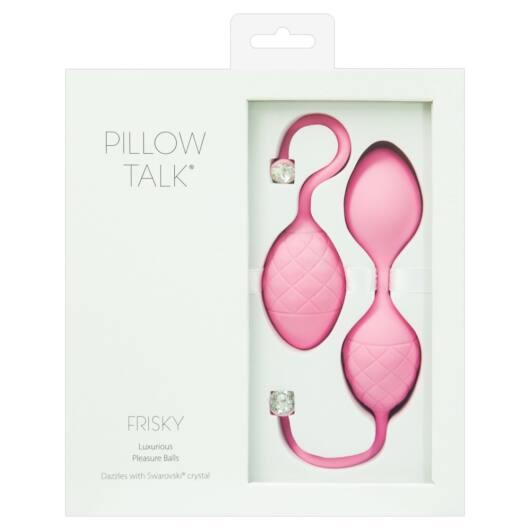 Pillow Talk Frisky – 2 dielna súprava venušinych guličiek (ružová)