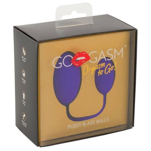 GoGasm Pussy & Ass – dvojica vaginálnych a análnych venušinych guličiek (fialová)