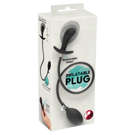 You2Toys - pumpable, dilating anal dilating dildo (black)