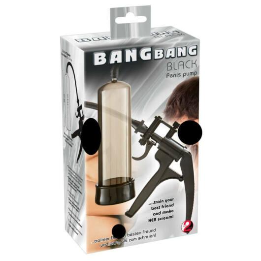 You2Toys Bang Bang - nožnicová pumpa na penis (čierna)