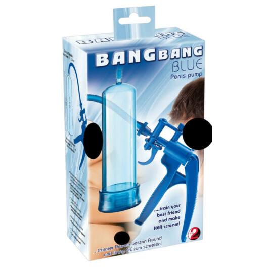 You2Toys Bang Bang - nožnicová pumpa na penis (modrá)