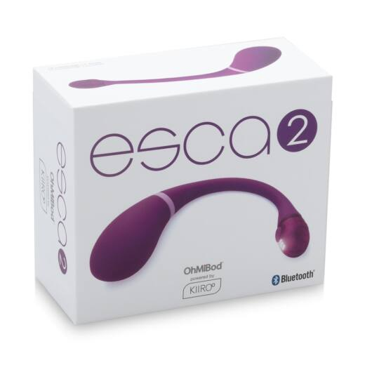 Kiiro Ohmibod Esca 2 - nabíjacie smart vibračné vajíčko (fialové)