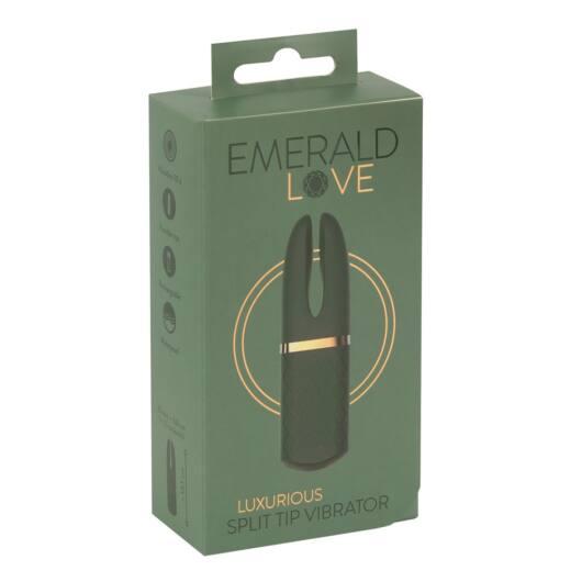Emerald Love - cordless, waterproof clitoral vibrator (green)