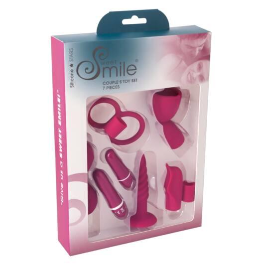 Smile Couples – stimulačná vibrátorová súprava pre páry – černicová (7 dielna)