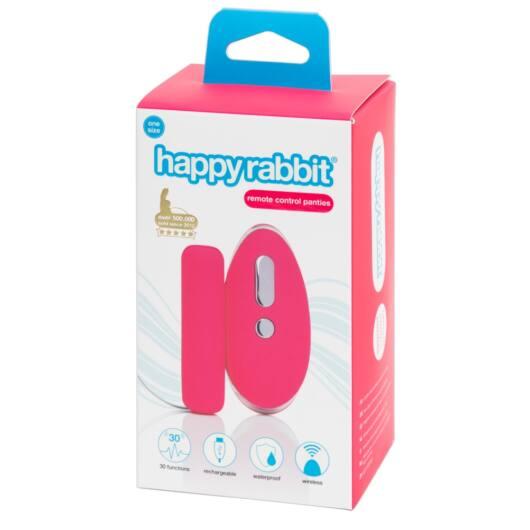Happyrabbit - Cordless Radio Vibration Panties (Pink-Black)