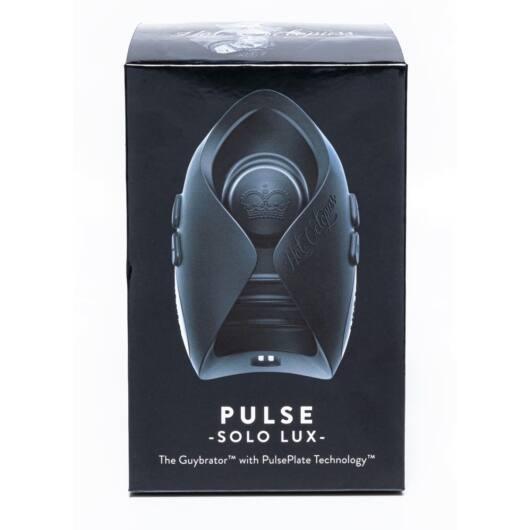 Hot Octopuss Pulse Solo Lux – nabíjací masturbátor na diaľkové ovládanie (čierny)
