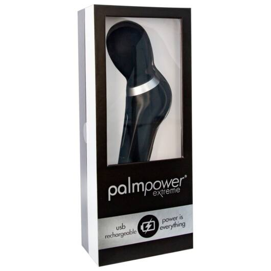 PalmPower Extreme Wand - Cordless Massage Vibrator (Black)