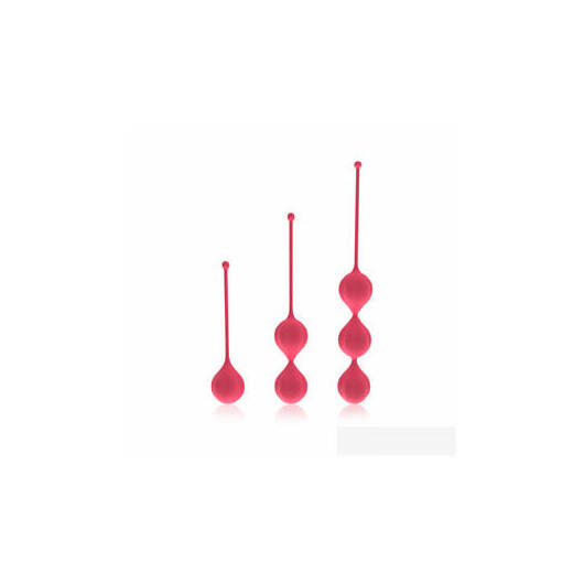 Cotoxo Belle - 3 dielna súprava venušinych guličiek (červená)