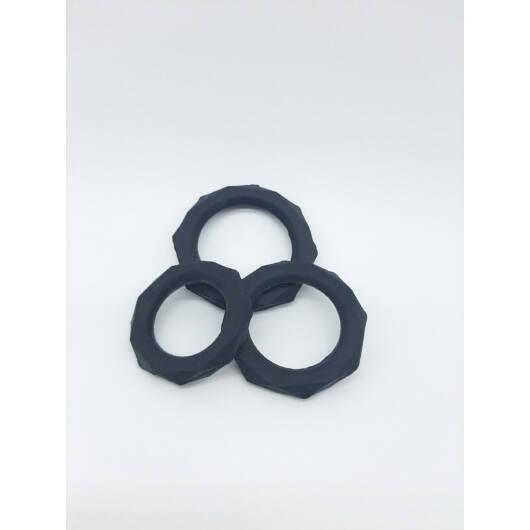 King Cock penis ring set (3pc) - black