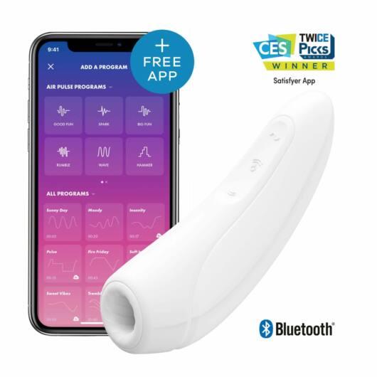 Satisfyer Curvy 1+ - nabíjací vodotesný smart vibrátor a stimulátor klitorisu (biely)