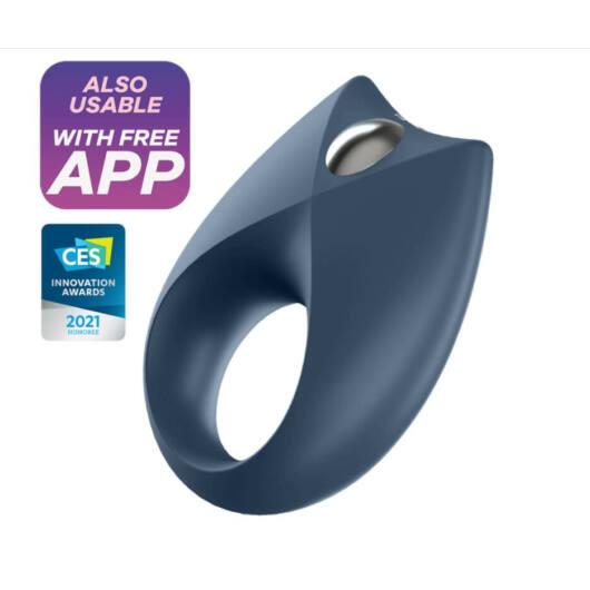 Satisfyer Royal One - nabíjací, vodotesný smart krúžok na penis (modrý)