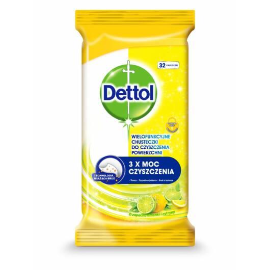 Dettol Power & Fresh - universal surface cleaning cloth - lemon-lime (32pcs)