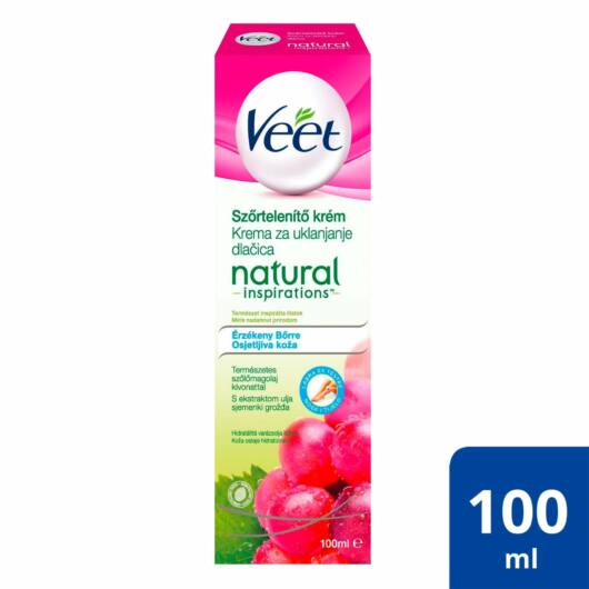 Veet - Depilatory Cream for Sensitive Skin - Grape Seed Oil (100ml)