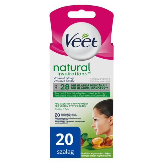 Veet Natural Inspirations - cold resin facial tapes (20pcs)