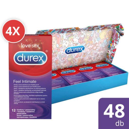 Durex Feel Intimate – balík tenkých kondómov (4 x 12ks)