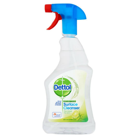 Dettol - antibacterial surface cleaning spray (500ml) - lime-mentha