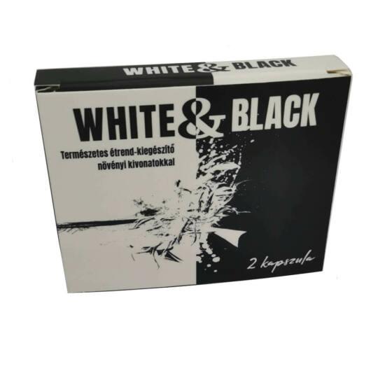 White & Black - silný výživový doplnok pre mužov (2ks)