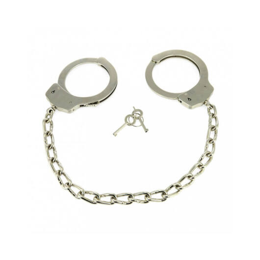 RIMBA - METAL POLICE ANKLECUFFS WITH CHAIN