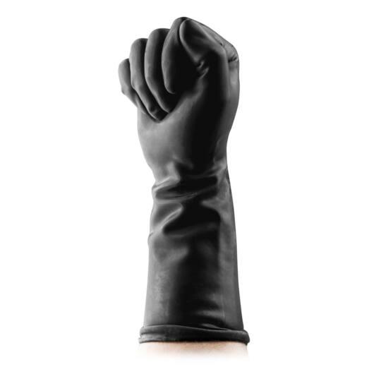 BUTTR Gauntlets Fisting Gloves - latexové rukavice na fisting (čierne)