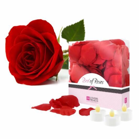 LOVERSPREMIUM - BED OF ROSES ROSE PETALS RED
