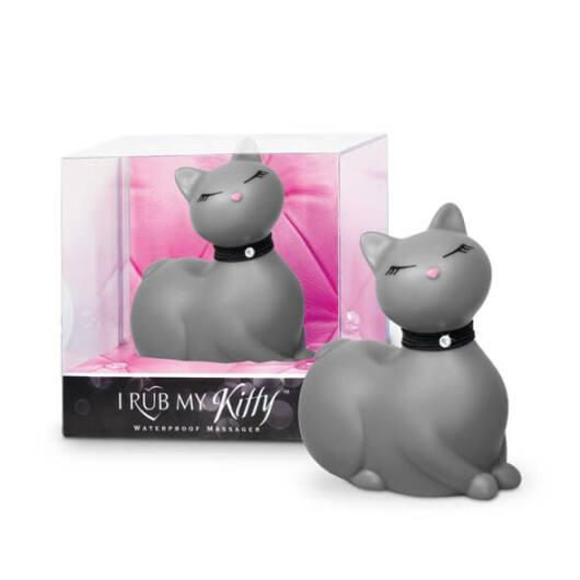 I Rub My Kitty - pradúca mačička - vibrátor na klitoris (sivý)