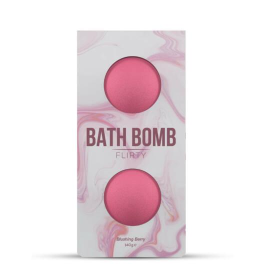 DONA Flirty Blushing Berry - kúpeľová bomba - ružová (2ks) - 140g