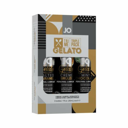 JO System Gelato – súprava ochutených lubrikantov (3ks)