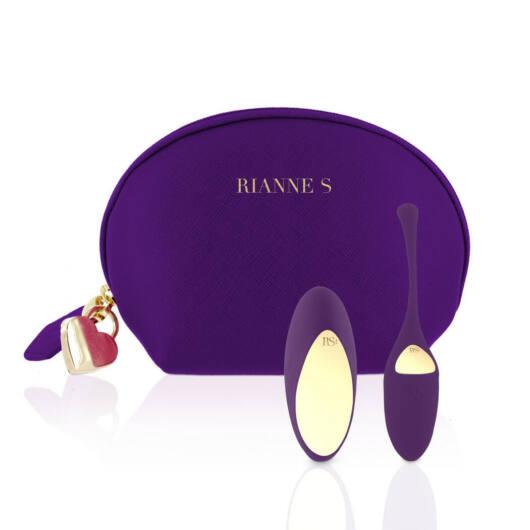 Rianne Essentials Pulsy – nabíjacie vibračné vajíčko na diaľkové ovládanie (fialové)