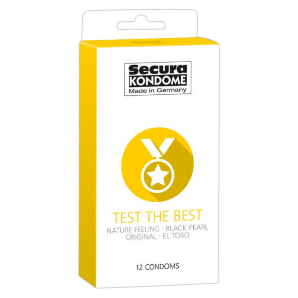 Secura Test the Best - výber kondómov (12ks)