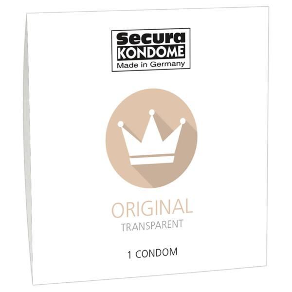Secura Original - priehľadný kondóm (1ks)