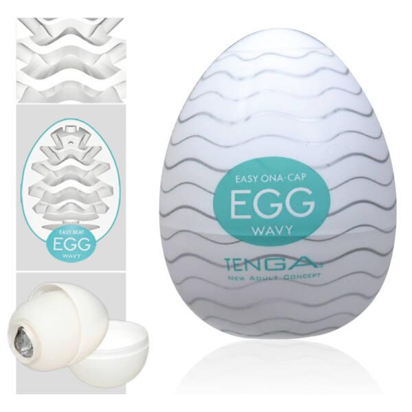 TENGA Egg Wavy vajíčko na orgazmus (masturbátor)